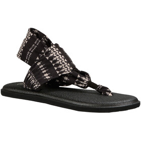 Sanük Yoga Sling 2 Prints Sandals Women Black/Natural Koa Tribal